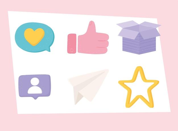 Ensemble de médias sociaux
