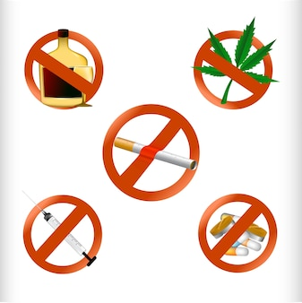 Ensemble de médicaments interdits
