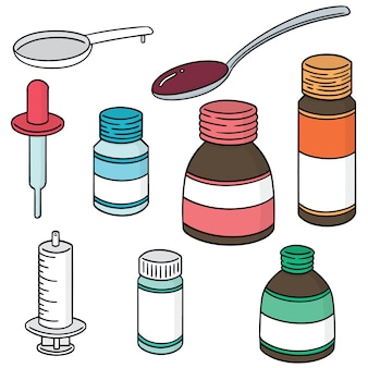 Ensemble de médicaments liquides