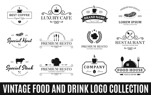 Ensemble des meilleures collections de logo de nourriture et de boisson