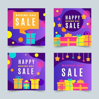 Ensemble de messages instagram boxing day sale