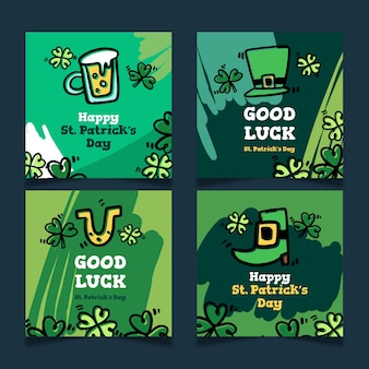 Ensemble de messages instagram de la saint-patrick