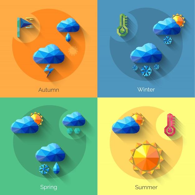 Ensemble météo saisons