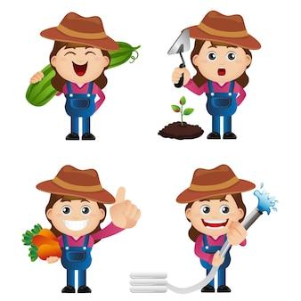 Ensemble mignon - ensemble de jardinier