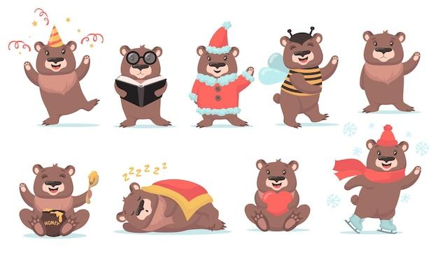 Ensemble mignon d'ours en peluche