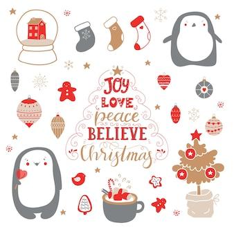 Ensemble mignon pour les cadeaux de décoration