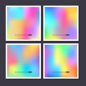 Ensemble de milieux colorés lumineux hologramme.