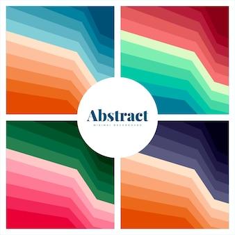 Ensemble de milieux imprimés abstraits colorés