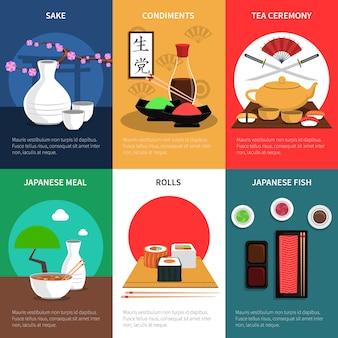 Ensemble de mini affiches de sushi