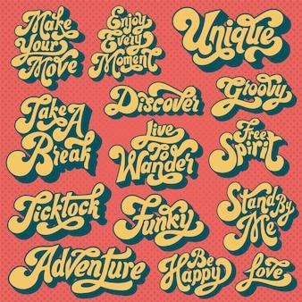 Ensemble mixte de typographie motivationnelle