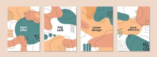 Ensemble de modèle artistique créatif abstrait pour la couverture