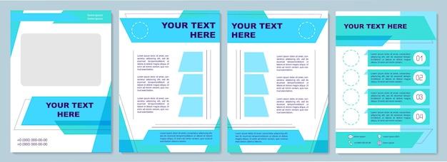 Ensemble de modèle de brochure commerciale turquoise