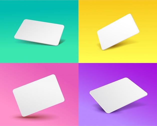 Ensemble d'un modèle de carte cadeau avec un effet 3d