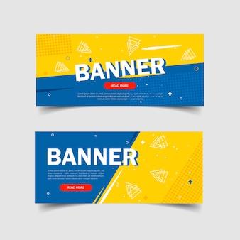 Ensemble de modèle de conception de bannière abstraite créative