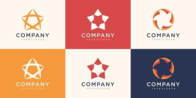 Ensemble de modèle de conception de logo étoiles