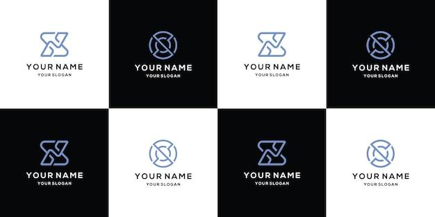 Ensemble de modèle de conception de logo lettre s