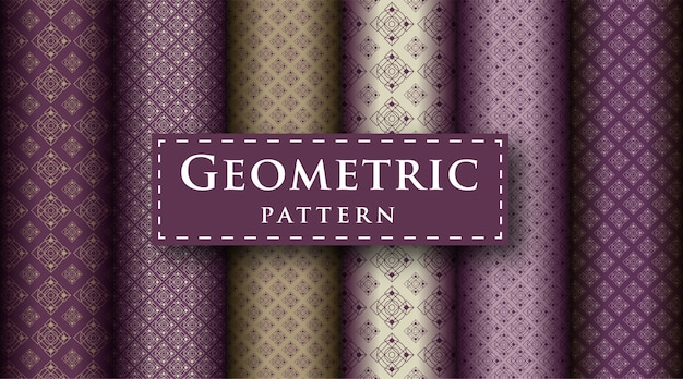 Ensemble de modèle de conception de luxe géométrique abstrait sans soudure