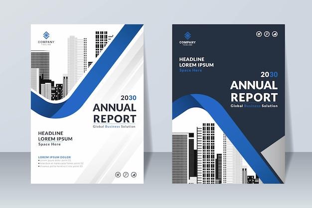 Ensemble de modèle de conception de rapport annuel créatif