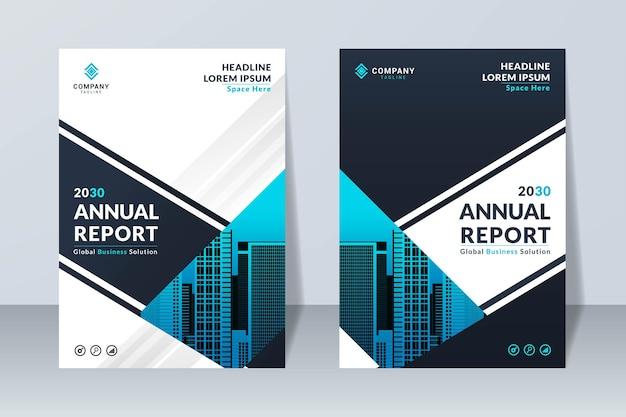 Ensemble de modèle de conception de rapport annuel d'entreprise moderne
