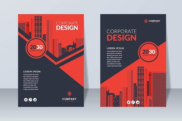 Ensemble de modèle de couverture de conception d'entreprise