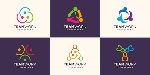 Ensemble d'un modèle d'icône de logo de communauté