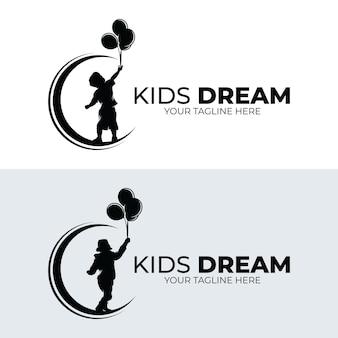 Ensemble de modèle d'illustration de conception de rêve d'enfants