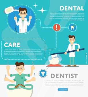 Ensemble de modèle d'illustration dentaire