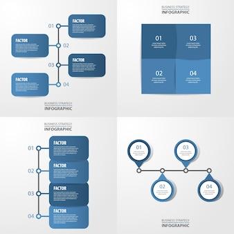 Ensemble de modèle d'infographie moderne