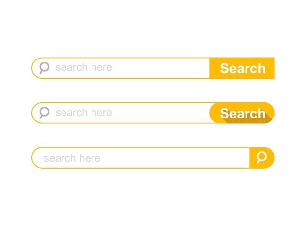 Ensemble de modèle d'interface utilisateur de la barre de recherche