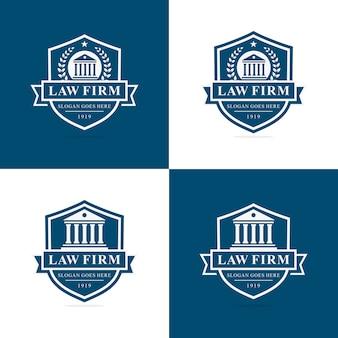 Ensemble de modèle de logo de cabinet d'avocats