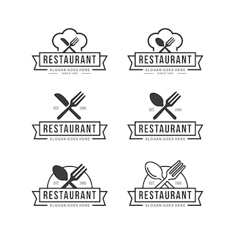 Ensemble de modèle de logo de restaurant