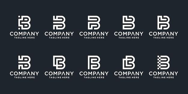 Ensemble de modèle de logo simple lettre b.