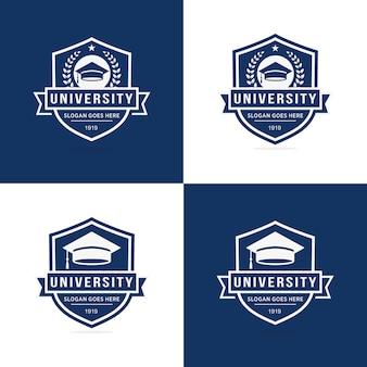 Ensemble de modèle de logo de l'université