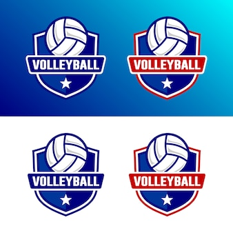 Ensemble de modèle de logo de volleyball