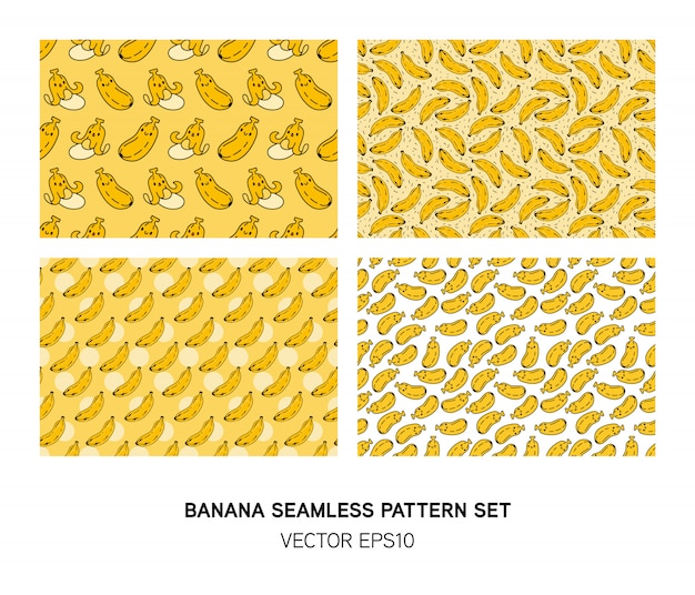 Ensemble de modèle sans couture banane mignon