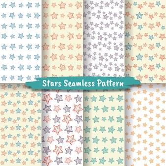 Ensemble de modèle sans couture d'étoiles, collection de fond d'étoiles