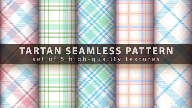 Ensemble de modèle sans couture tartan classique