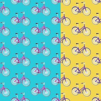 Ensemble de modèle sans couture de vélo