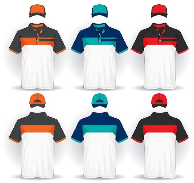 Ensemble de modèle uniforme, polos et casquettes.