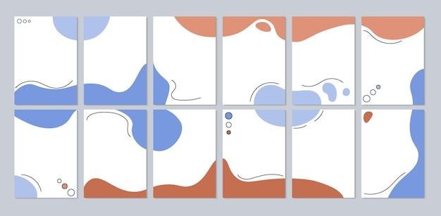 Ensemble de modèles abstraits collection d'arrière-plans conception de formes lisses éléments graphiques