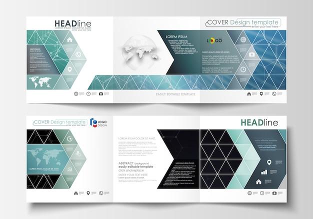 Ensemble de modèles d'affaires pour les brochures à trois volets.