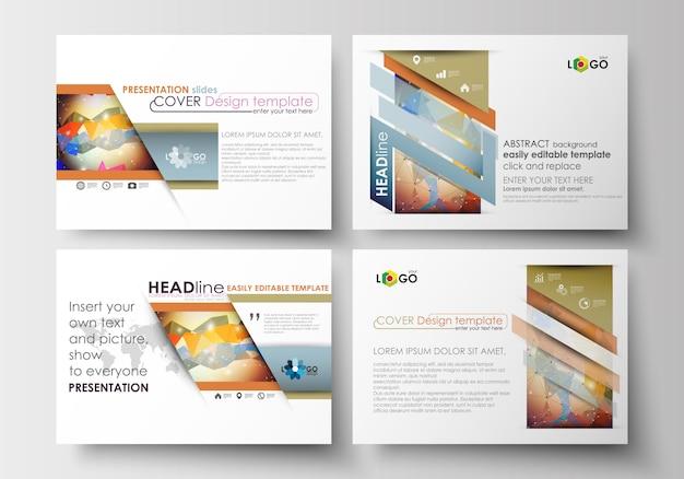 Ensemble de modèles d'affaires pour les diapositives de présentation