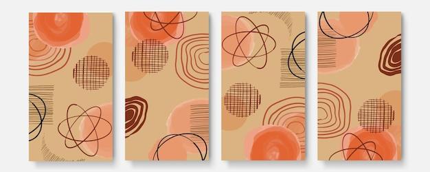 Ensemble de modèles artistiques universels créatifs abstraits