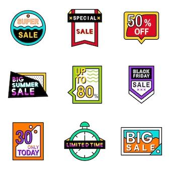 Ensemble de modèles de badge de vente