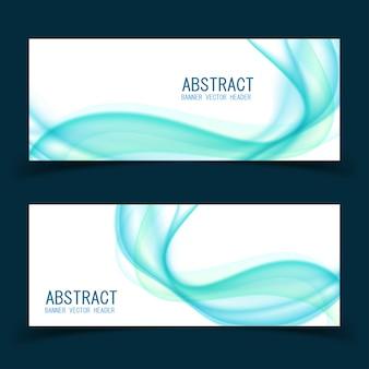 Ensemble de modèles de bannière de dessin abstrait vector