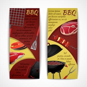 Ensemble de modèles de bannières barbecue