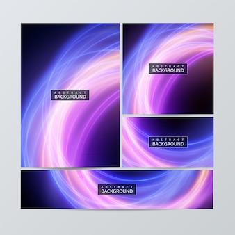 Ensemble de modèles de brochures de papeterie d'entreprise avec des éléments d'infographie