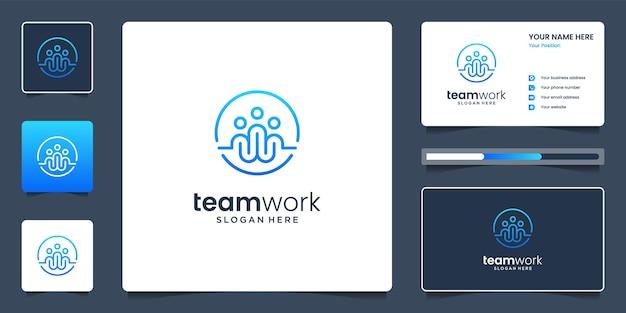 Ensemble de modèles de cartes de visite et de logo