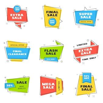 Ensemble de modèles de conception de bannières de vente