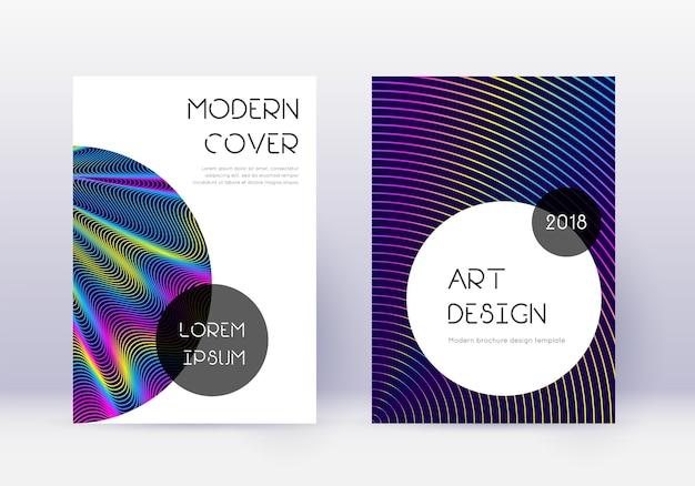 Ensemble de modèles de conception de couverture à la mode